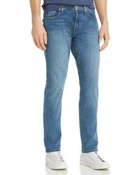 PAIGE - Federal Slim Fit Jeans In Cartwright - Lyst