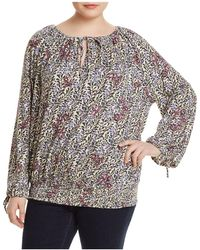 Lucky Brand - Floral Smocked-waist Top - Lyst