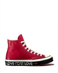 Converse - Women s Chuck Taylor All Star 70 Leather High Top Sneakers - Lyst 99bbc1517
