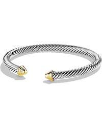 David Yurman | Cable Classics Bracelet With Gold | Lyst