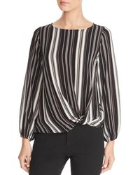 Status By Chenault - Striped Twist Front Top - Lyst