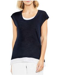 Vince Camuto - Linen Layered-look Tee - Lyst