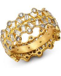 Armenta - 18k Yellow Gold Sueno Champagne Diamond & White Sapphire Ring - Lyst
