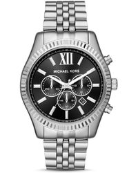 Michael Kors - Lexington Stainless Steel Chronograph Bracelet Watch - Lyst