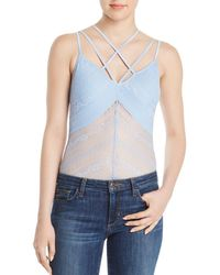 Guess - Nadine Strappy Lace Bodysuit - Lyst
