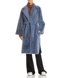 Theory - Shearling Robe Coat - Lyst
