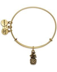 ALEX AND ANI - Pineapple Expandable Wire Bangle - Lyst