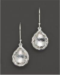 Ippolita - Sterling Silver Rock Candy Teeny Teardrop Earrings In Clear Quartz - Lyst