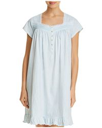 Eileen West - Striped Short Gown - Lyst