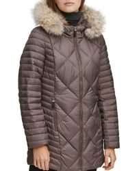 Marc New York - Kameron Fur Trim Puffer Coat - Lyst