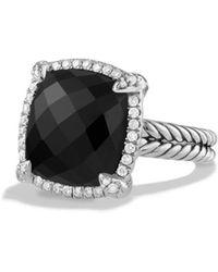 David Yurman - Châtelaine Pavé Bezel Ring With Black Onyx And Diamonds - Lyst