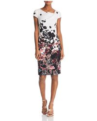 Adrianna Papell - Contrast-trim Dress - Lyst