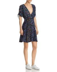French Connection - Aubine Floral-print Tie-sleeve Dress - Lyst