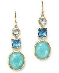 Ippolita 18k Yellow Gold Rock Candy® Triple Stone Drop Earrings