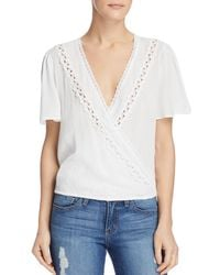 Sage the Label - Anything Goes Crocheted Crossover Top - Lyst