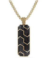 David Yurman - ??orged Carbon 18k Yellow Gold Ingot Pendant - Lyst