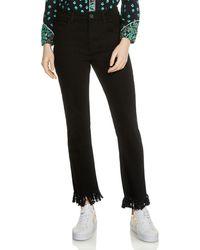 Maje - Panako Skinny Frayed-hem Ankle Jeans In Black - Lyst