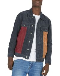 Barney Cools - B.rigid Color-block Corduroy Jacket - Lyst