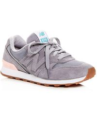 New Balance - Women's 696 Suede Lace Up Trainers - Lyst