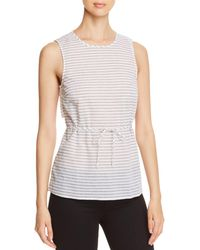 Kenneth Cole - Striped Sleeveless Wrap Top - Lyst