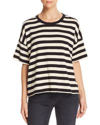 Current/Elliott - The Roadie Striped Cotton-jersey T-shirt - Lyst