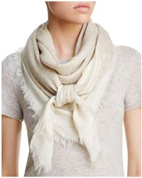 Tory Burch - Logo Oversized Square Scarf - Lyst