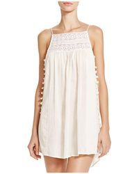 Boho Me - Pom Pom Mini Dress Swim Cover-up - Lyst