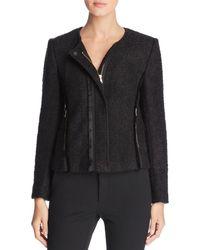 Donna Karan - New York Bouclé Moto Jacket - Lyst