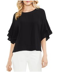 Vince Camuto - Tiered Ruffle-sleeve Top - Lyst