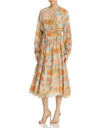 Elizabeth and James - Norma Printed Silk Dress - Lyst