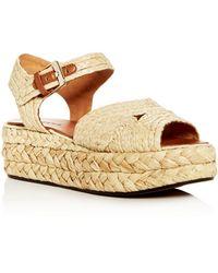 Clergerie - Robert Women's Aude Raffia Platform Sandals - Lyst