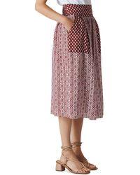 Whistles - Woodblock-print Skirt - Lyst