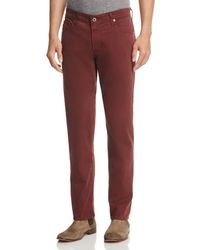 AG Jeans - The Graduate Slim Straight Fit Pants In Deep Mahogany - Lyst