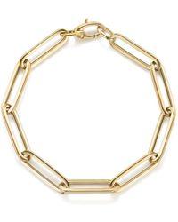 Bloomingdale's - Thin Link Bracelet In 14k Yellow Gold - Lyst