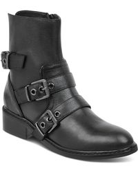 Kendall + Kylie - Kendall And Kylie Women's Nori Round Toe Leather Low-heel Booties - Lyst