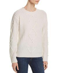 C By Bloomingdale's - Embellished Aran - Knit Cashmere Jumper - Lyst