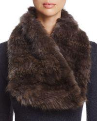 Maximilian - Sable Fur Knit Scarf - Lyst