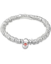 Uno De 50 - Orange Crystal Stretch Bracelet - Lyst
