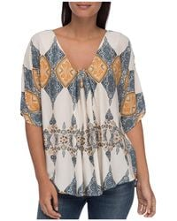 B Collection By Bobeau - Presley Printed Top - Lyst