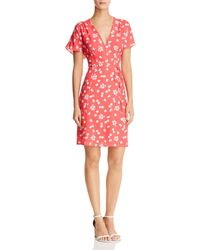 French Connection - Frances Faux-wrap Floral Dress - Lyst