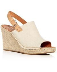TOMS - Women's Monica Hemp Espadrille Platform Wedge Sandals - Lyst