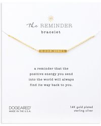 Dogeared - The Reminder Bracelet In 14k Gold-plated Sterling Silver - Lyst