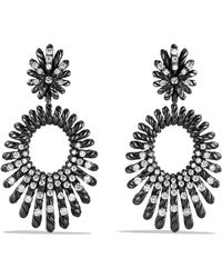 David Yurman - Tempo Double Drop Earrings With Diamonds - Lyst