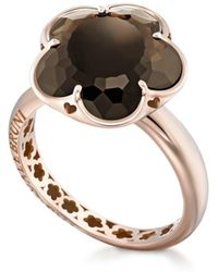 Pasquale Bruni - 18k Rose Gold Floral Smoky Quartz Ring - Lyst