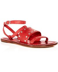 Bernardo - Women's Studded Leather Ankle Strap Sandals - Lyst