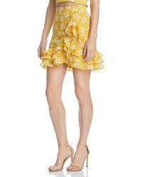 Bardot - Kiki Ruffled Floral Skirt - Lyst