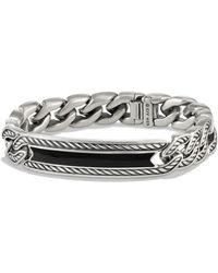David Yurman - Maritime Onyx & Sterling Silver Curb Link Id Bracelet - Lyst