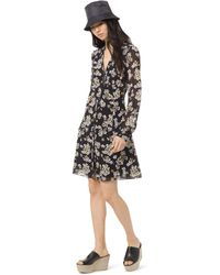 e0b5b168532 MICHAEL Michael Kors Leathercenter Studded Dress in Black - Lyst