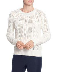 T Tahari - Open-work Sweater - Lyst