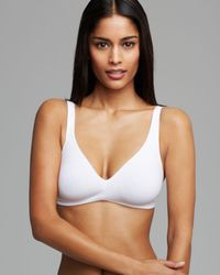 7c5690d1170aa4 Lyst - Hanro Sensation Full Figure Soft Cup Wireless Bralette in Natural